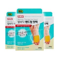 하루온 발바닥 밴드형 핫팩 4매입 3개 /발 핫팩