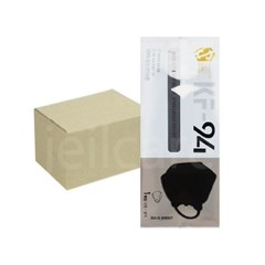 에이트 슈가원 보건용 마스크 KF94 검정 대형 100매