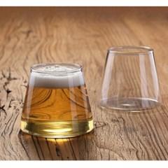 삼각 내열 투명 유리컵
