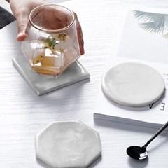 대리석 모양 컵받침 3type