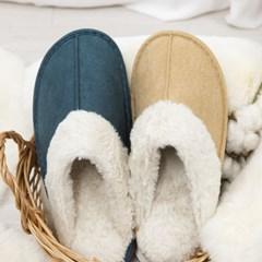 웰빙 커플 겨울 털 실내화 거실 방한 따뜻한 슬리퍼