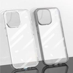 아이폰 13 시리즈 쿼츠 하이브리드 클리어 강화유리 케이스
