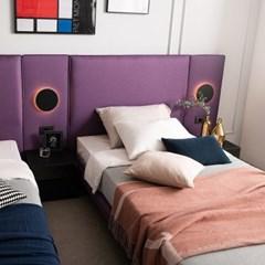 버터플라이 패브릭 투매트리스 침대(퀸,킹 공용) 프레임 / 전국착불