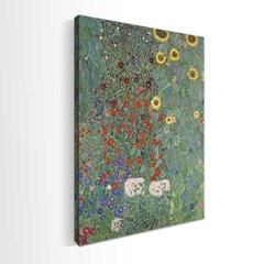 주문제작 액자 Gustav Klimt  해바라기가있는 정원