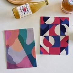 미니 포스터 / 패브릭 포스터_geometry/기하학 (4종세트)