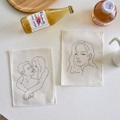 미니 포스터 / 패브릭 포스터_romantic/로맨틱 (4종세트)