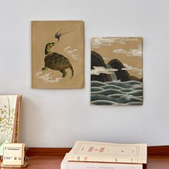 미니 포스터 / 패브릭 포스터_longevity/십장생 (4종세트)