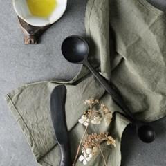 벨류세라믹 첼리나 흑단 원목 계량스푼 24.5cm
