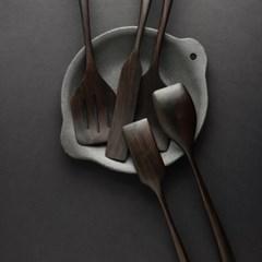 벨류세라믹 첼리나 흑단 원목 직각볶음스푼 35cm