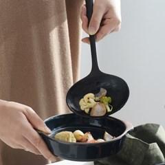 벨류세라믹 첼리나 흑단 원목 타원볶음스푼 35cm