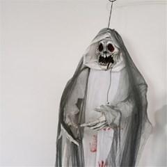 할로윈 파티 장식 소품 피묻은 매달린 해골 공포 인형 H