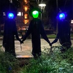 할로윈 장식 불들어오는 검은 마녀 인형 소품 방탈출 H