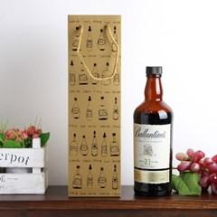 샤인 와인 쇼핑백 10p세트/와인백 선물용 와인종이백