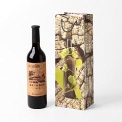 통나무 와인 쇼핑백 10p세트/와인선물포장 와인백