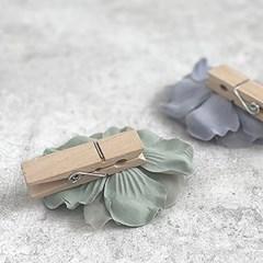 쉬폰플라워 우드집게 (3colors)