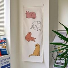 cats/고양이 A 세로형 패브릭 포스터 / 바란스커튼