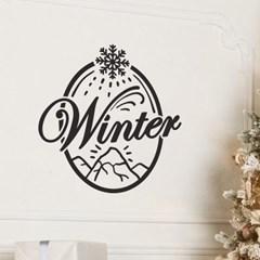 winter 눈꽃내리는 설산 겨울 인테리어 스티커
