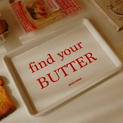 find your BUTTER tray 레시피 쟁반 카페 트레이