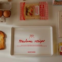 madame recipe tray 레시피 쟁반 카페 트레이
