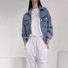 여자 베이직 간절기 청잠바 데님 트러커 자켓