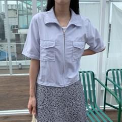 겟잇미 하로 여성 데일리 포켓 여름 집업 자켓