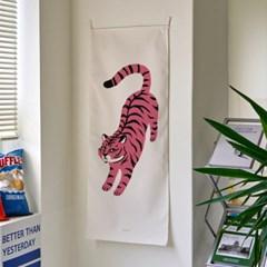 pink tiger A 세로형 패브릭 포스터 / 바란스커튼