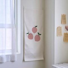 peach/복숭아 A 세로형 패브릭 포스터 / 바란스커튼