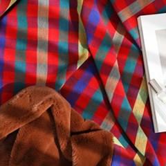극세사 벨보아 대형 담요 블랭킷 싱글 초코레드 (144*200)