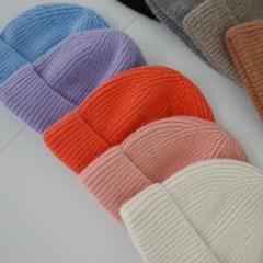 앙고라 니트 기본 무지 숏 꾸안꾸 와치캡 비니 모자