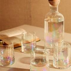 럭셔리 홀로그램 투명 유리 카페 물병 컵 세트