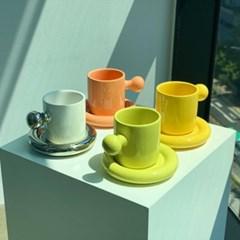 뭉툭 아이스아메리카노 시리얼 예쁜 도자기 커피 머그 컵 잔