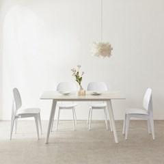 트리빔하우스 로레인 세라믹 1400 테이블 식탁 세트_TB20O78
