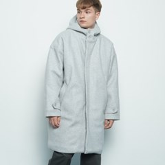 M217 wool hood coat grey