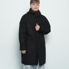 M217 wool hood coat black