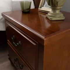 마테라W 천연무늬목 사이드테이블, 협탁