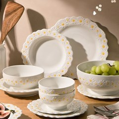 감성 디자인 데이지 디너 플레이트 접시 식기 그릇 A6