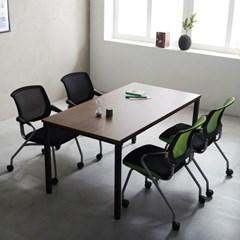 T4 로디 1500 테이블세트 4인용테이블 사무실테이블