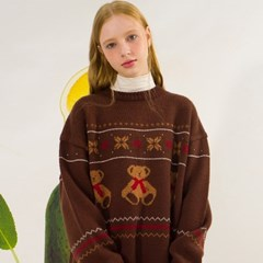 Teddy Bear Oversized Sweater(CHESTNUT)