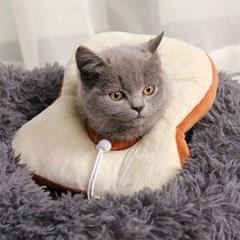 고양이 강아지 쿠션 넥카라 그루밍 방지 5종 토스트