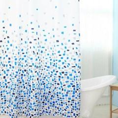 욕실 방수 샤워커튼+커튼링 방수막 (스퀘어)