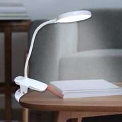 침대 책상 충전식 무선 2in1 집게 겸용 클립 LED 스탠드