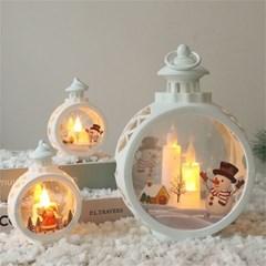 크리스마스 LED 촛불 캔들 무드등 탁상 조명 인테리어 H