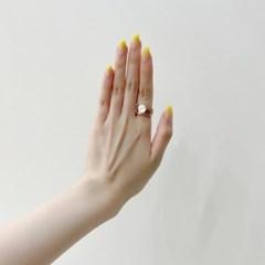 [오팔하우스]925Silver 볼드한 자개 서클 반지 OPMUR11458