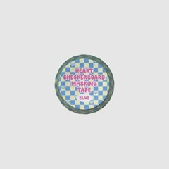 Heart Checkerboard Masking Tape_Blue