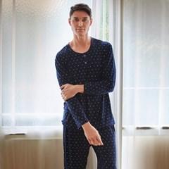남성긴팔잠옷 문나이트 피치기모 페어 7029(남성)