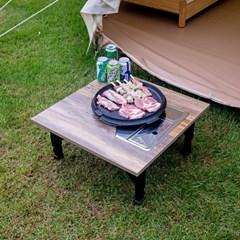 [리앳홈] 미우새 가정용 미니 불판 접이식테이블 캠핑용 3컬러