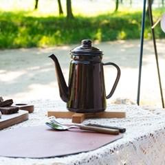 왈로우 캠핑 우드 원목 나무 접이식 냄비 받침대 라이트브라운