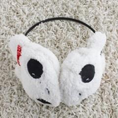 리본 토끼 귀마개 겨울 기모귀마개