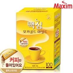 맥심 모카골드 솔루블 블랙커피 100T (커피만) /커피