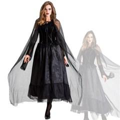 할로윈 마녀 코스튬 의상 파티복 여성 드레스 H